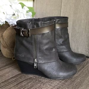 Blowfish Brown Leather Ankle Booties